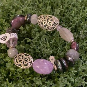 Beautiful Purple Stone Bracelet
